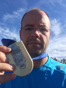 Florian Perrot et sa médaille