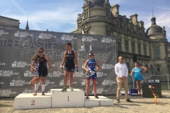 Le podium du Sprint Plus de Chantilly